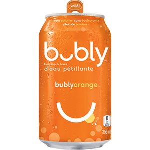 Bubly eau pétillante orange 355ml