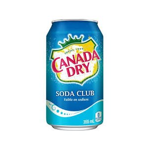 Canada Dry club soda canette 355ml.