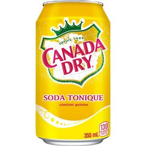 Canada dry soda tonique canette 355ml.