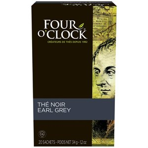 Four O'Clock thé noir earl grey (20 / bte)