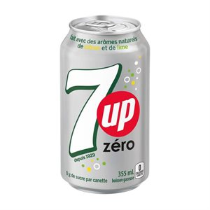 7 Up diète canette 355ml.